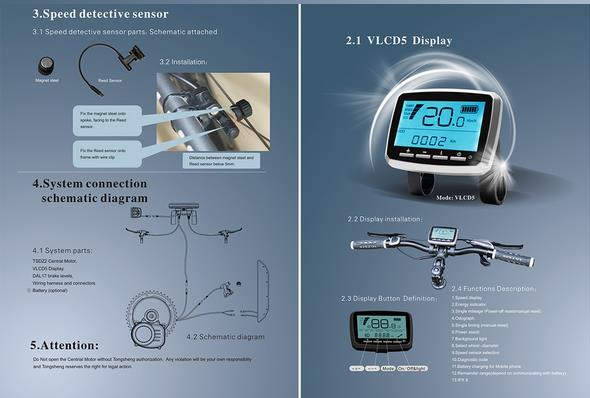 best selling mid torque sensor motor drive e bike kits TSDZ2 with VLCD5 display