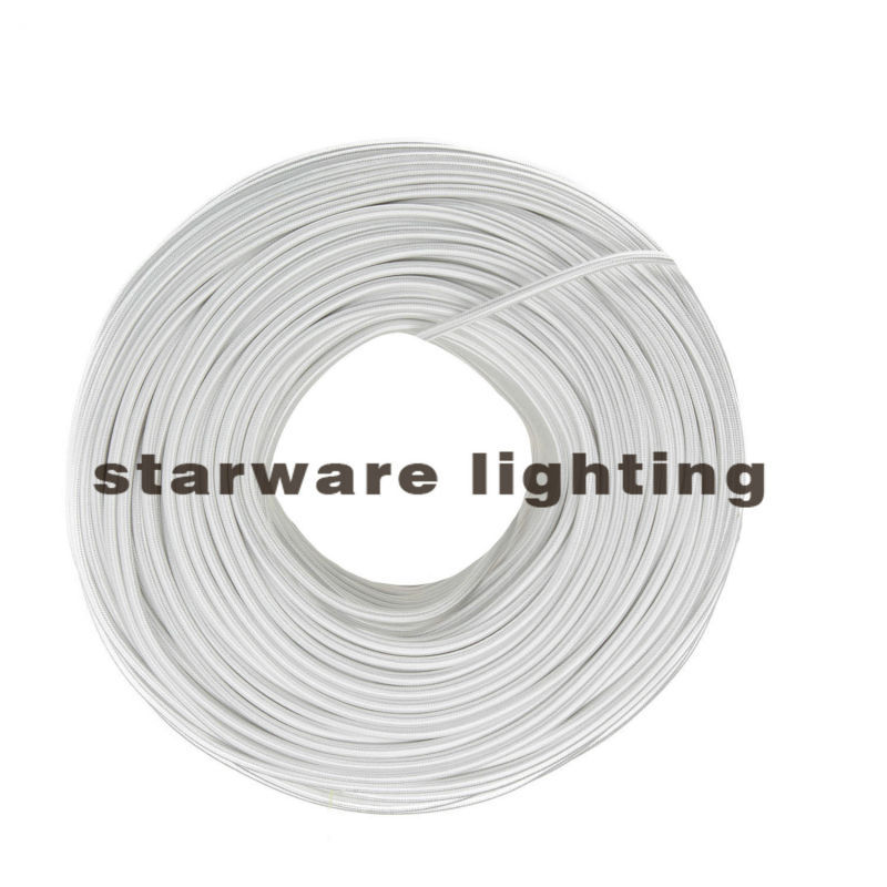 2*0.75 /3*0.75 Copper Cloth Covered Wire, Vintage Style Lamp Cord, FABRIC TWIST ELECTR WIRE/Pearl