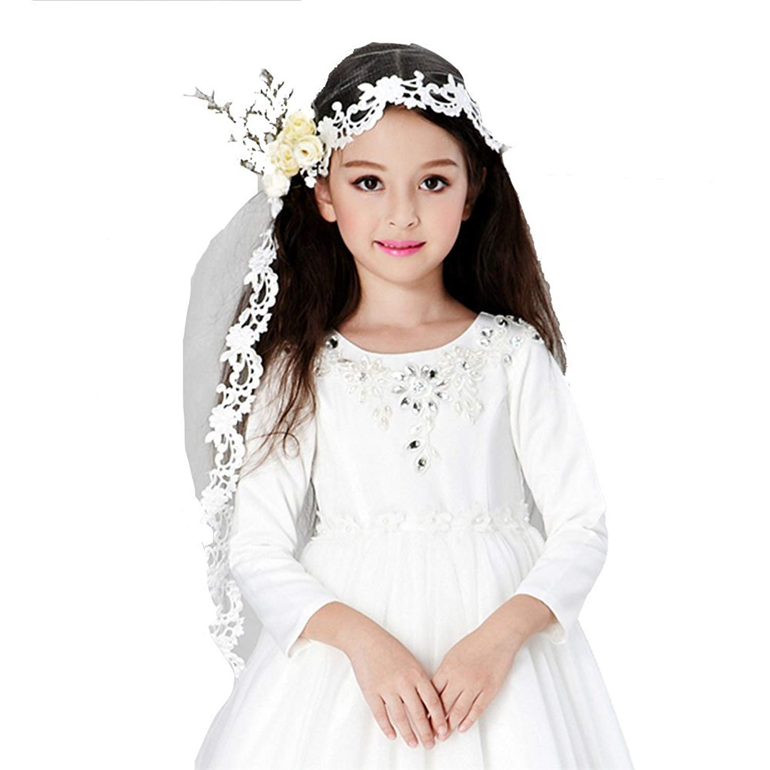 5b4be195ae Buy Communion Veil - First Communion Veils - Beaded Headband with ...