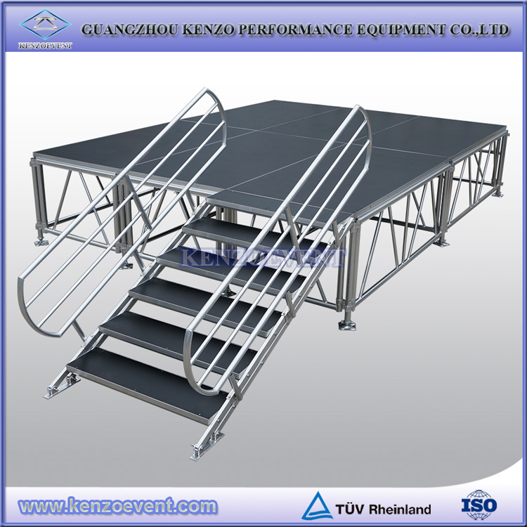 Customized adjustable height stage DIY portable stage