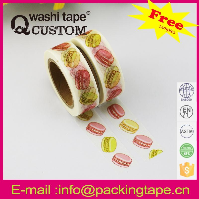 Qcustom colorful ruby washi paper tape with great price