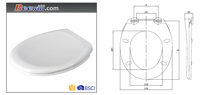 White Thermoplastic Spring Loaded Toilet Seat Buy Spring