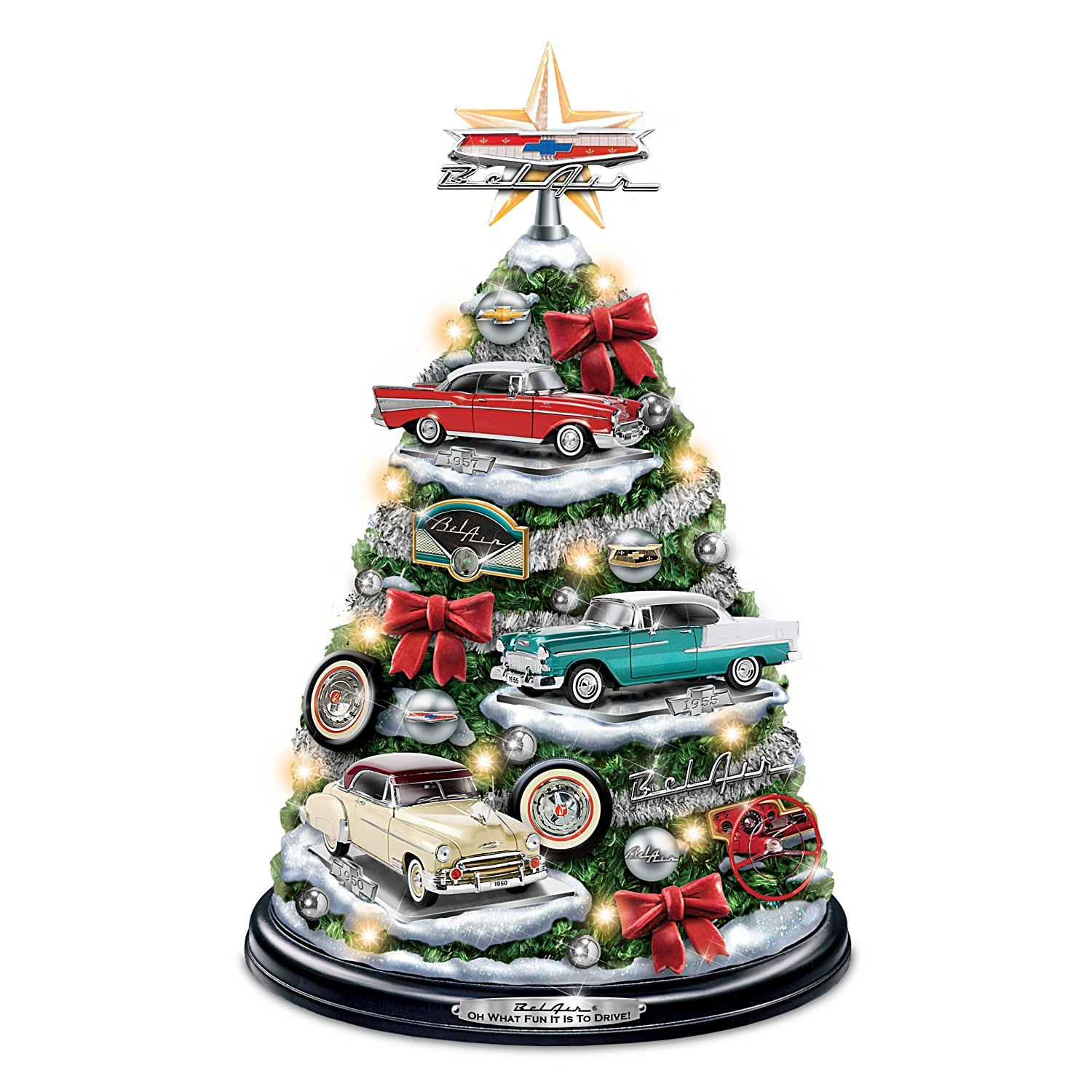 Buy Chevrolet Bel Air Tabletop Christmas Tree With Revving Engine