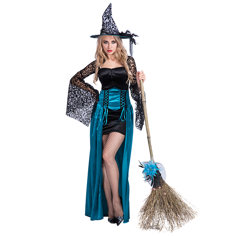 Women Sexy Witch Halloween Cosplay Costume Fancy Dress - Buy Witch ... ece298bc4