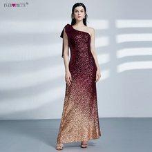 Женское вечернее платье-русалка, элегантное золотистое Макси-платье с v-образным вырезом и блестками, EP08999(Китай)