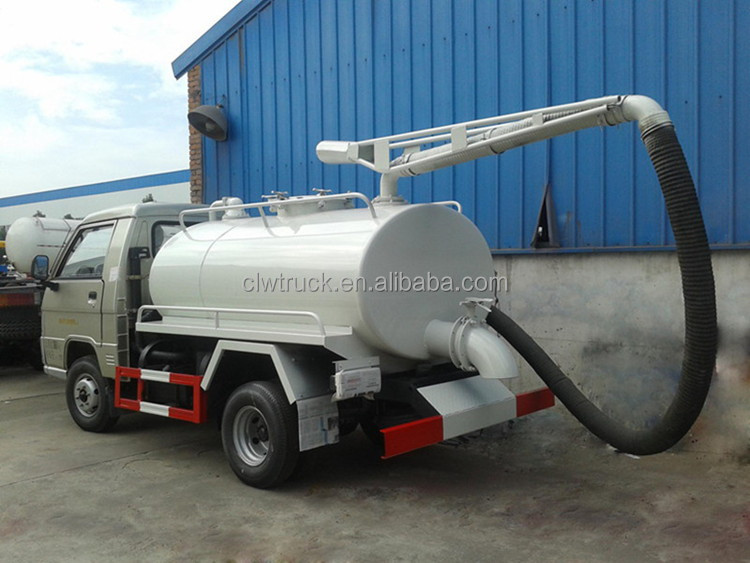 Low Price Foton Sewage Suction Tanker Truck Small Sewage