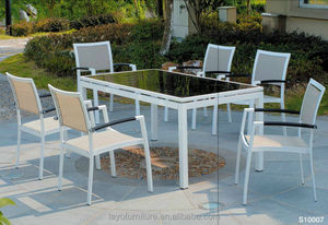 outdoor furniture sling table sets dining set recycled plastic outdoor furniture