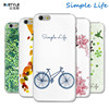 Bustyle simple life design cover for apple iPhone 6 6s plus PC material cases 3D embossedeffect