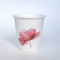 3oz printed custom design espress disposable paper coffee cup