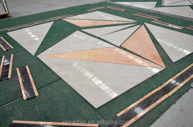 Marble stone mosaic tile traditional parquet with marble