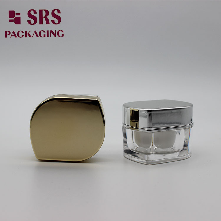 Unique leaf shape mini cosmetic container 10ml nail jar made of acrylic