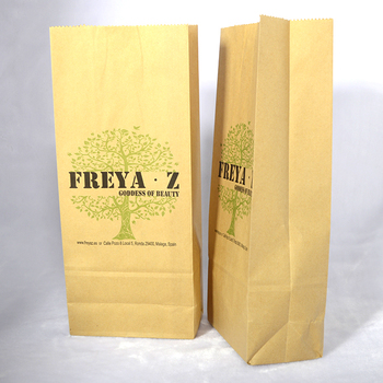 Whole Food Grade Greaseproof Custom Brown Small Wax Coated Kraft Paper Bags For Hamburger