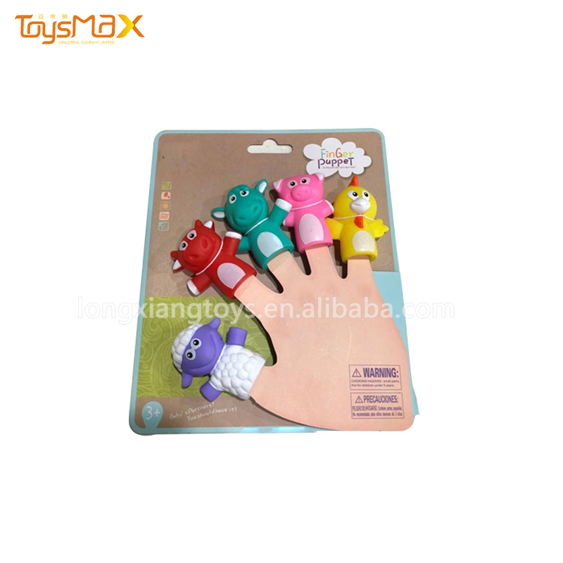 New Soft Mini Animal Finger Puppet Set Family Story Game Toys For Kids Educational Toy