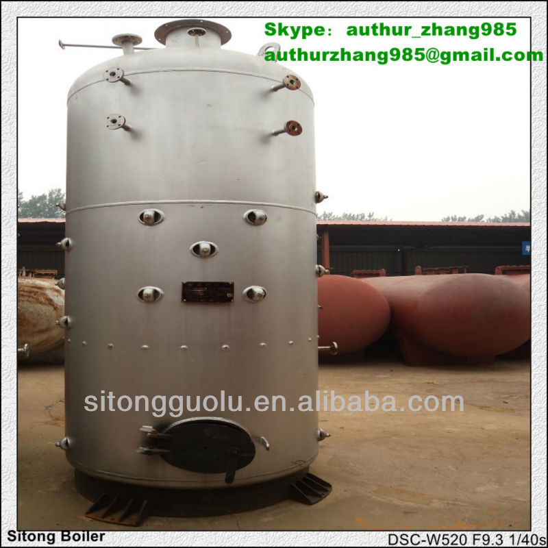 Vertical coal/biomass/wood pellet fired hot water boiler for home