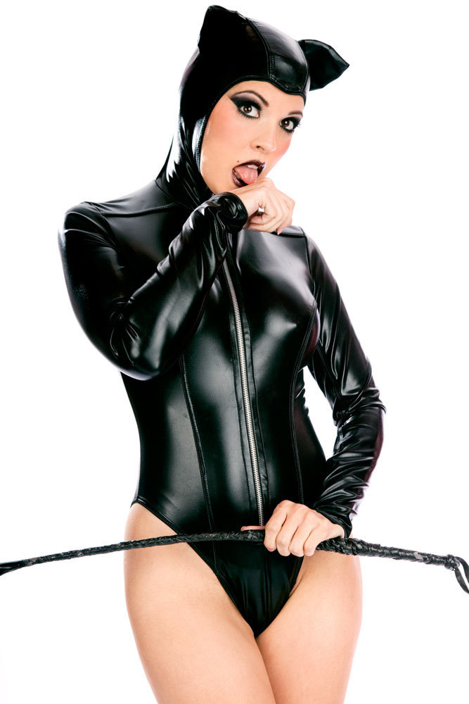 Get Quotations · Free shipping High quality Sexy Hooded Leather Teddy  PP9014 Fancy Dress Leather Toxic Hooded Cat Ear