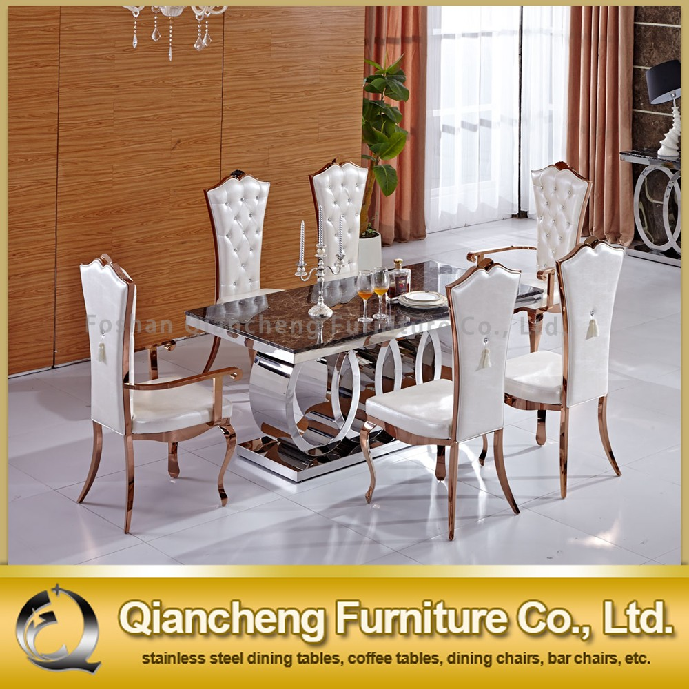 Stainless Steel Kitchen Tables 10 Seater Marble Dining Table With Stainless Steel Table Frame