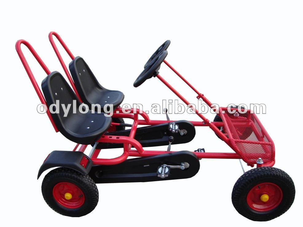 Hot sell fashion family two person adult pedal car, four wheel surrey bike with CE F2150