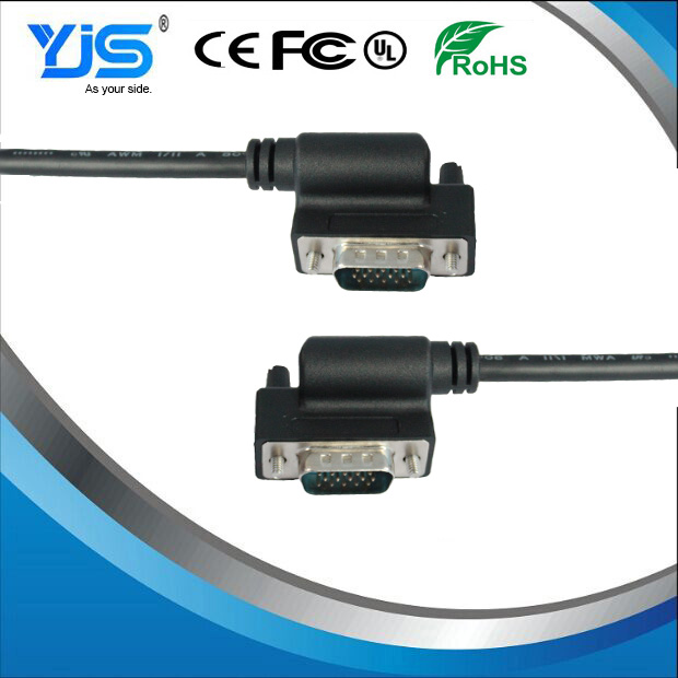 China Manufacturer Hdb15 90 Degree Up Or Down Side Vga Cable