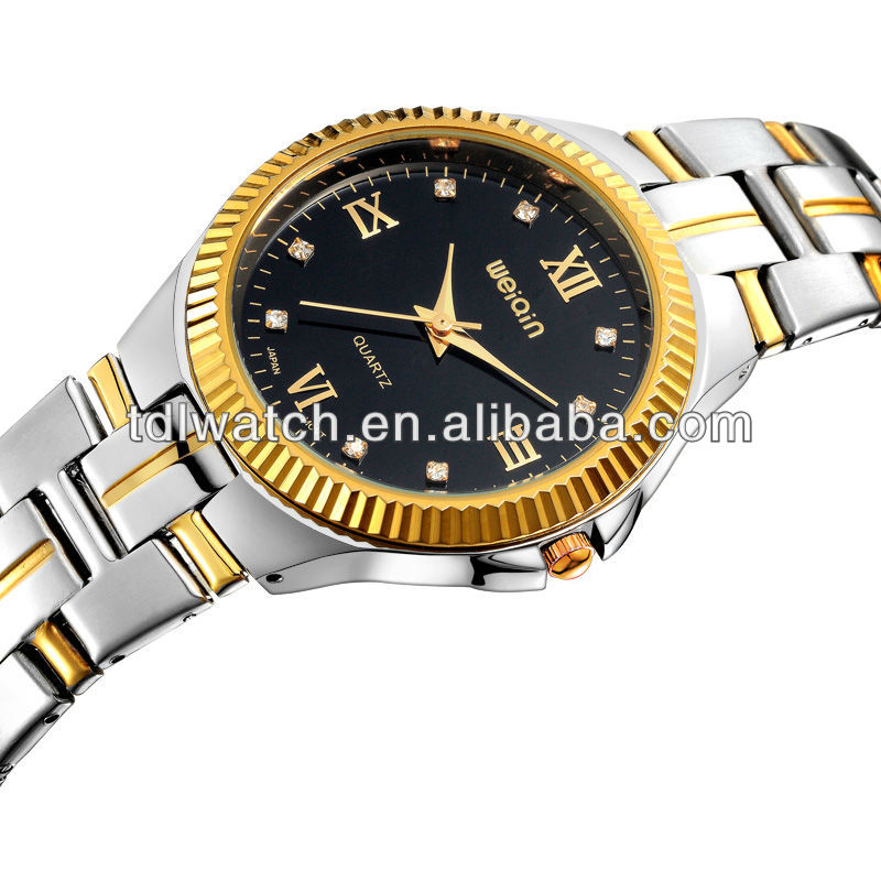 Luxury Brand Design IPG Gold Plating Watch For Couple