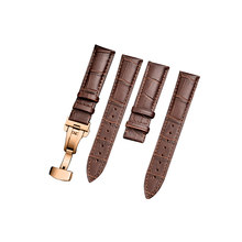 Ремешок для часов Carouse, кожаный ремешок для часов длиной 18 мм, 19 мм, 20 мм, 21 мм, 22 мм, 24 мм, ремешок с пряжкой-бабочкой, Аксессуары для браслета(Китай)