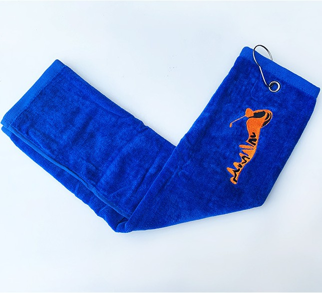 2019 New Arrival Men's Golf Towels Custom Made High Quality Golf Clubs Hook Sport GymTowels For Sale