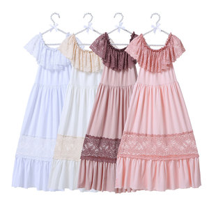 2018 Baby Summer Pearl Dresses For Girls Cotton Flower Spring Summer Baby Girl Maxi Dress