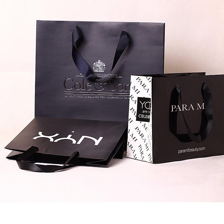 Custom private design logo paper bag