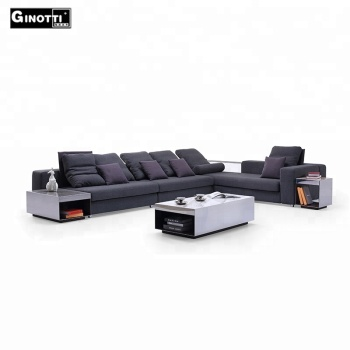 Dongguan Manufacturer Italian Design Living Room Furniture Modern 7 Seater Sectional  Sofa
