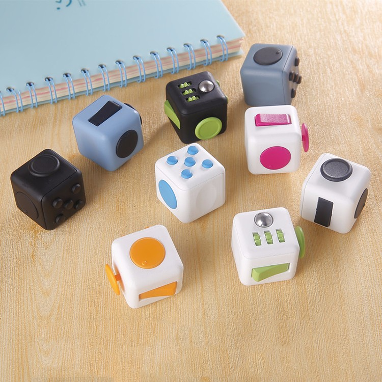 2017 New Christmas Gift 6-Sided Anxiety Attention Stress Relief Fidget Cube