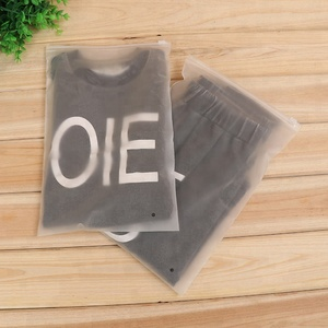Clear Frosted Opaque Slide Zip Lock Plastic Bag, Plastic Sealable Bags for Clothing>