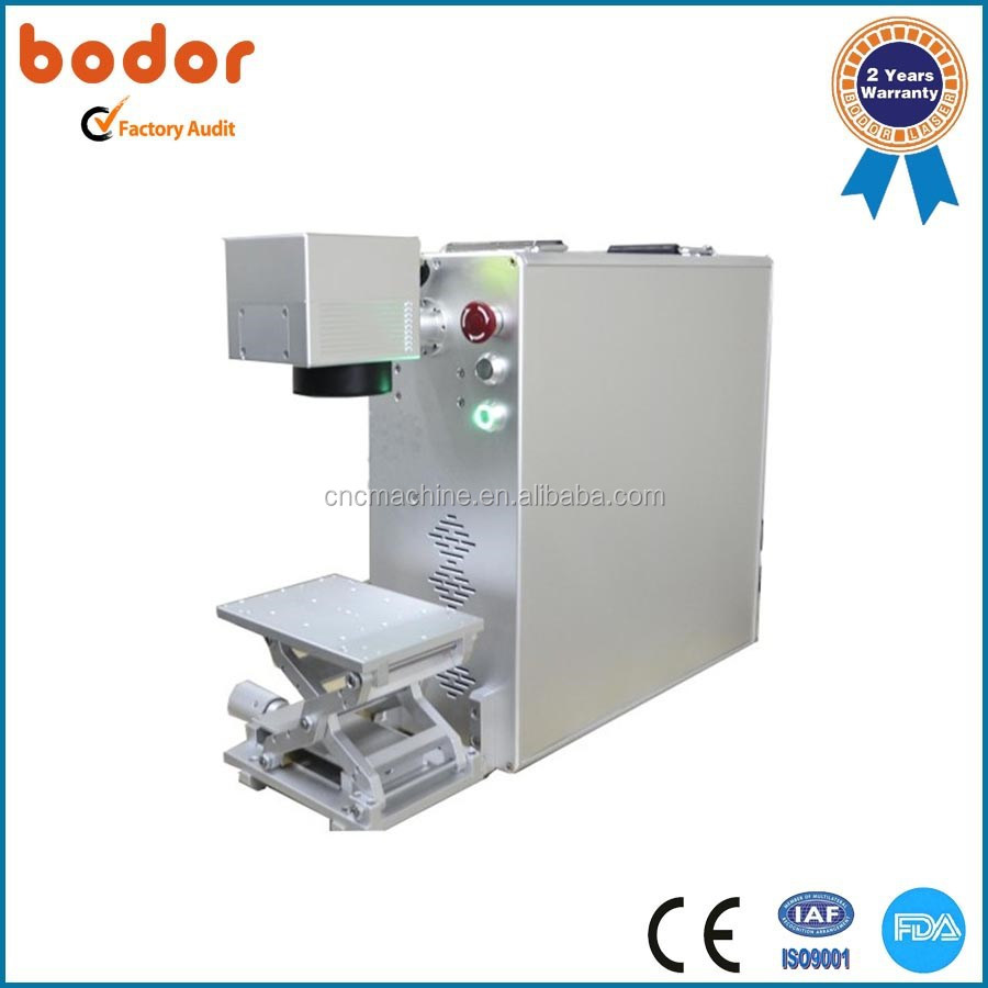 portable fiber small laser engraving machine for metal 100*100mm 10-30w