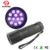 3 * AAA baterai 12 LED aluminium tubuh UV led flashlight torch light