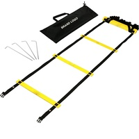 Speed Ladders for Soccer Football Speed Agility Training 12 Rung adjustable Speed Ladder 19ft Length Agility Ladder