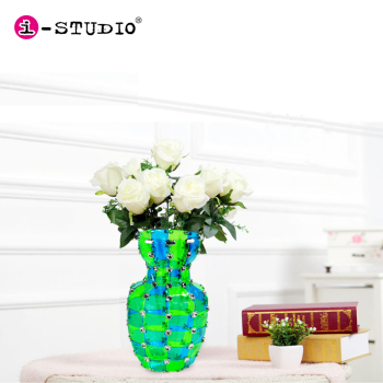 Handmade Wholesale DIY toy splicing PVC vase for home decoration