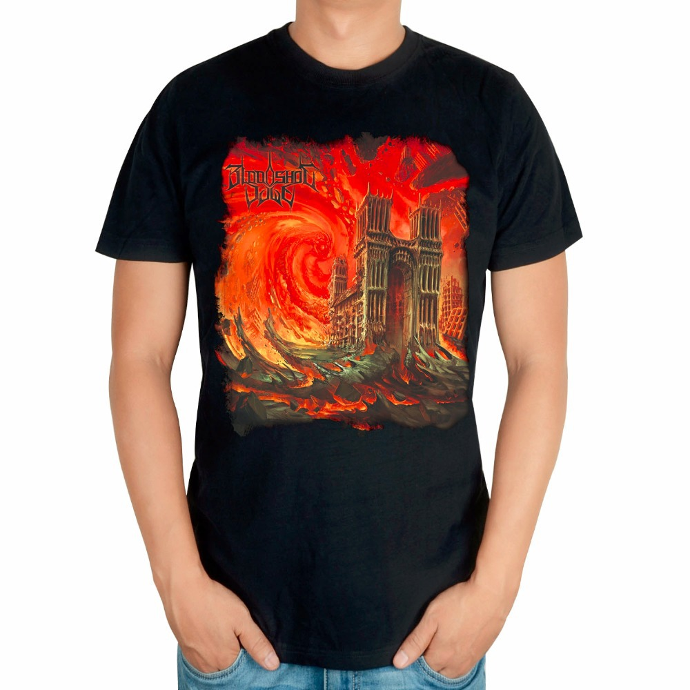 T black shirt rock - Buy Bloodshot Dawn Rock Brand Black Shirt 3d High Quality Mma Fitness Heavy Metal 100 Cotton Short Sleeve Print Church T Shirt Art In Cheap Price On