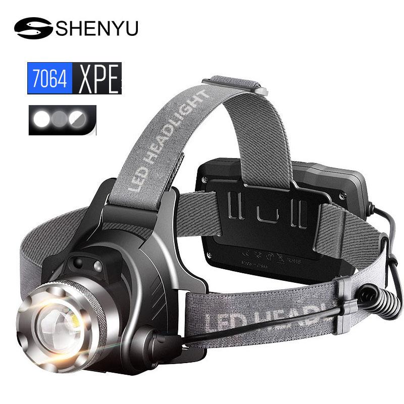 XPE Q5 Zoom Headlight LED 3000 Lumen 3 mode Headlamp for Hunting Camping BV