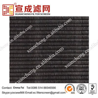 Black Steel Plain Dutch Woven Wire Mesh Cloth