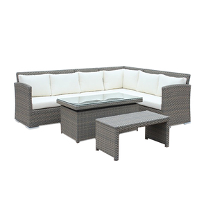 Elegant outdoor wicker furniture rattan wicker garden sofa patio outdoor wicker sofa