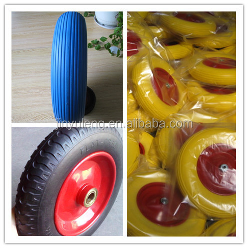 200x50 pneumatic rubber wheel flat free wheel for wheelbarrow / hand trolley/ trailer/wagon