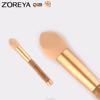 Rose gold oval makeup brush Zoreya Large Sponge makeup brush
