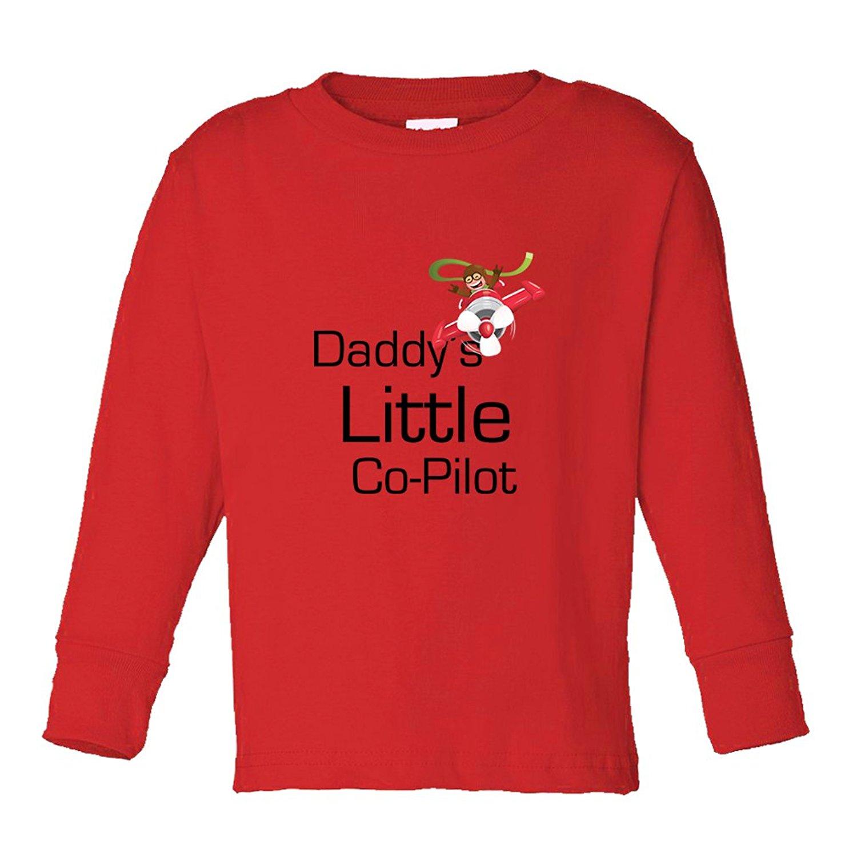 Cute Rascals Daddy's Little Co Pilot Kids Long Sleeve Cotton T-Shirt Tee
