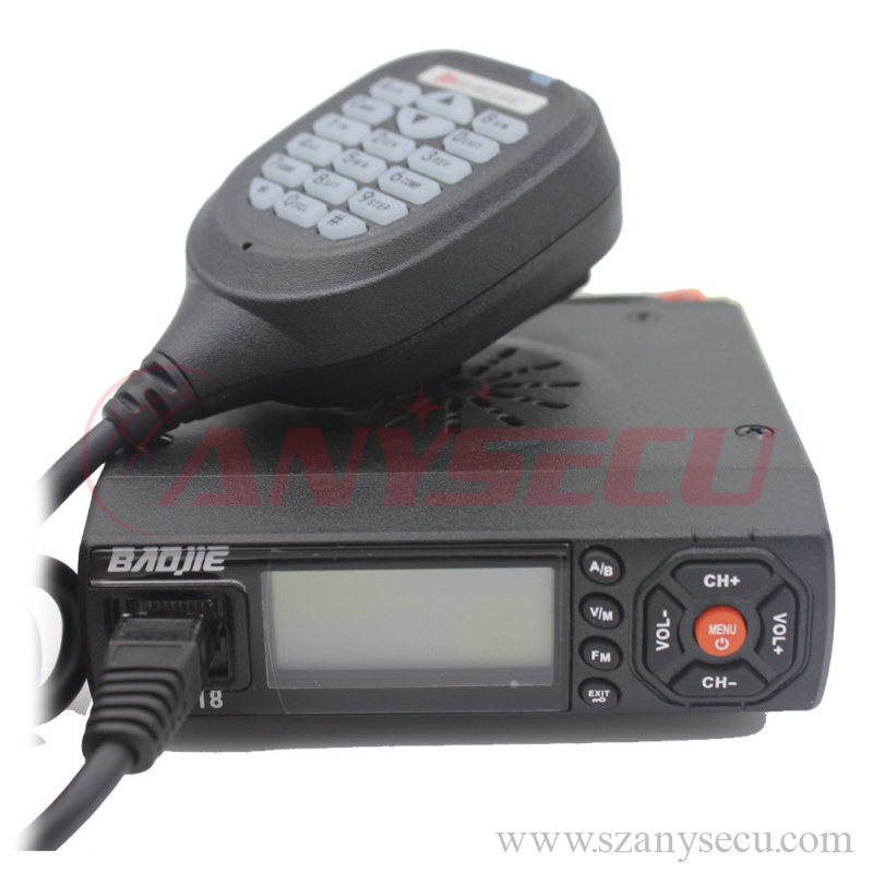 25 watt fm transmitter Baojie BJ-218 136-174/400-470MHz dual band Super Mini Mobile Radio uhf vhf fm Transceiver with high power