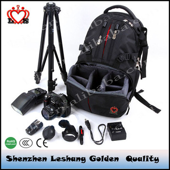China Factory High End Professional Nylon Slr Hiking Camera Bag Outdoor Waterproof Mountain Travel Backpack