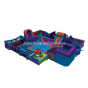 Kids Adults Inflatable Indoor Amusement Parks Fun City Bouncer Theme Park Obstacle Playground Equipment For Sale
