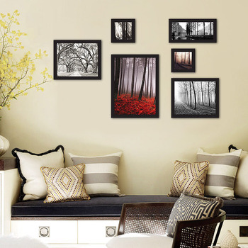 Forest Tree 6 In 1 Photo Frame Wall Hanging Picture Frame Ornaments ...