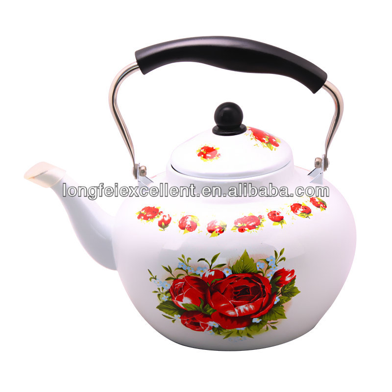 apple shape tea pot enamel water kettle