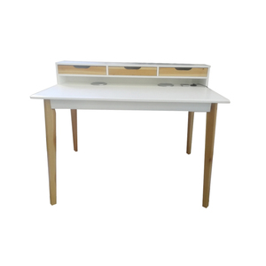 Modern Simple Bamboo Legs Low Price Corner Computer Desk Table