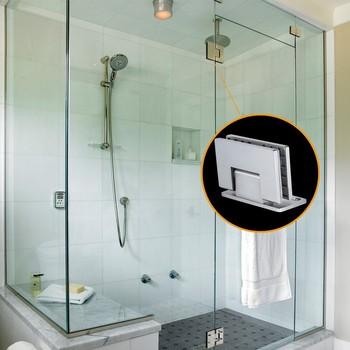 Stainless Steel Frameless Shower Door Wall Mount Glass Hardware