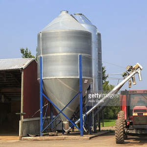 Galvanized Animal Poultry Feed Farm Hopper Bottom Steel Silo for Sale