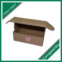 TUCK TOP CORRUGATED CARTON BOX FLAT PACK SMALL MAIL PAPER KRAFT CORRUGATED BOX